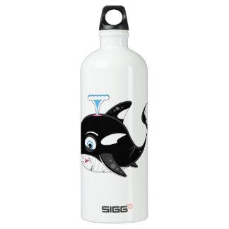 Cute Cartoon Killer Whale Water Bottle