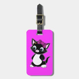 Cute Cartoon Kitten Bag Tag