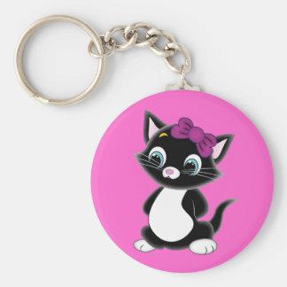 Cute Cartoon Kitten Keychain