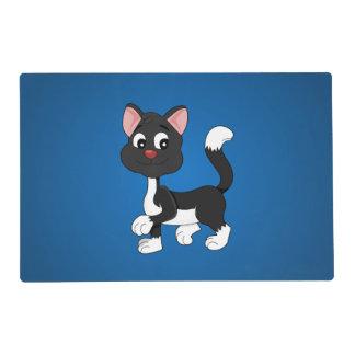Cute cartoon kitten laminated place mat