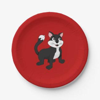 Cute cartoon kitten 7 inch paper plate
