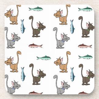 Cute Cartoon Kitties Coasters