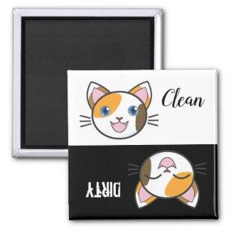Cute Cartoon Kitty Dishwasher Magnet