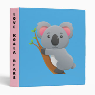 Cute cartoon Koala bear background Binder