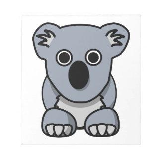 Cute cartoon koala bear notepad