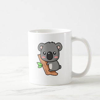 Cute Cartoon Koala Bear on Eucalyptus Tree Coffee Mug