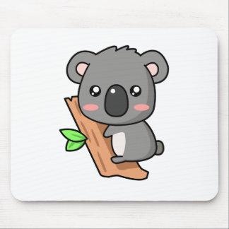 Cute Cartoon Koala Bear on Eucalyptus Tree Mouse Pad
