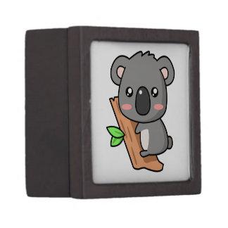 Cute Cartoon Koala Bear on Eucalyptus Tree Premium Jewelry Box
