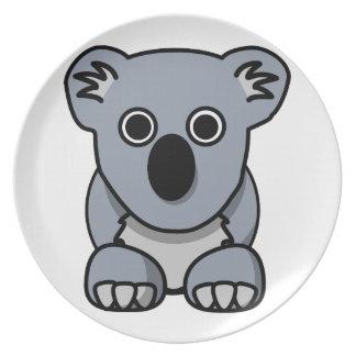 Cute cartoon koala bear dinner plate