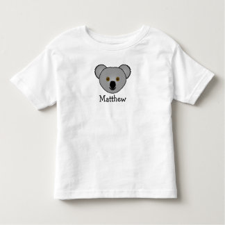 Cute cartoon koala personalized with childs name t-shirt