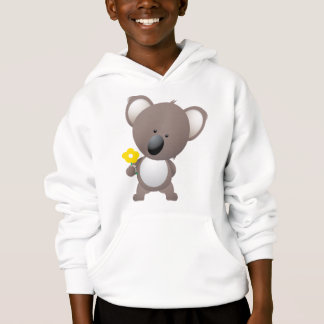 Cute Cartoon Koala With Flower Hoodie