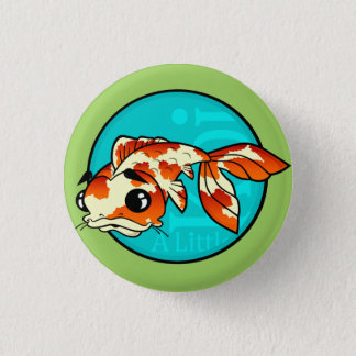 CUTE CARTOON KOI FISH ROUND BUTTON