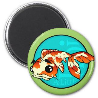 CUTE CARTOON KOI FISH ROUND MAGNET