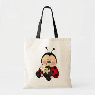 Cute Cartoon Lady Bug Tote Bag