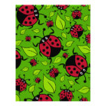 Cute Cartoon Ladybird - Ladybug Pattern Letterhead Design