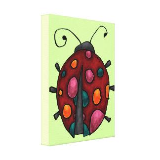Cute Cartoon Ladybug Canvas Print