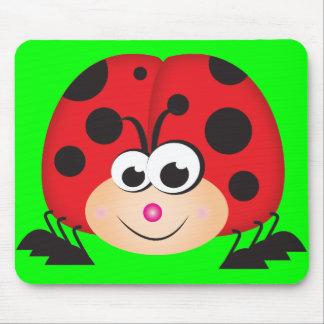 Cute Cartoon Ladybug Mouse Pad