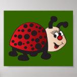 Cute Cartoon Ladybug Poster