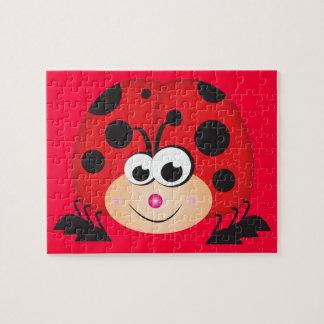 Cute Cartoon Ladybug Puzzle