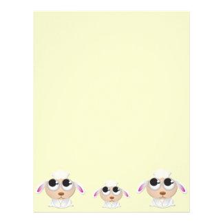 Cute Cartoon Lamb Letterhead