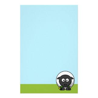 Cute Cartoon Lamb Stationery Design