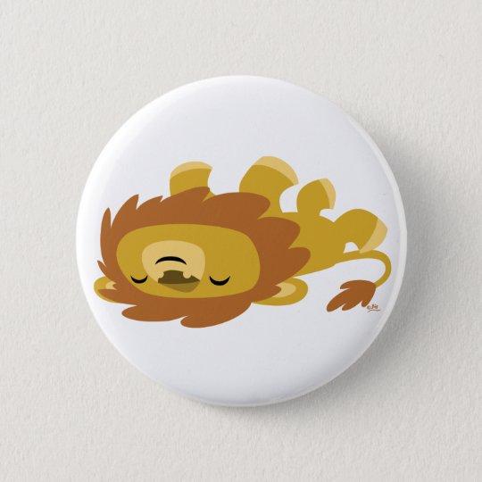 Cute Cartoon Lazy Lion Button Badges