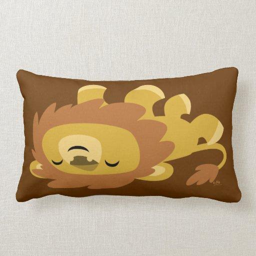 Cute Lion Pillow : Cute Cartoon Lazy Lion Pillow Zazzle