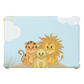 Cute Cartoon Liger with Mummy and Daddy iPad Mini Cover