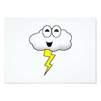 Cute Cartoon Lightning Cloud Card
