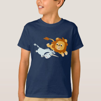Cute Cartoon Lion and Unicorn Children T-Shirt