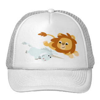 Cute Cartoon Lion and Unicorn Hat