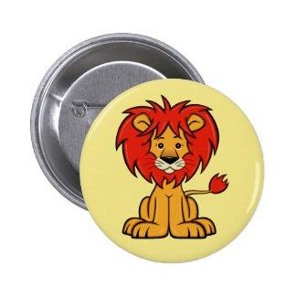 Cute Cartoon Lion Button
