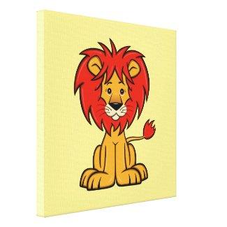 Cute Cartoon Lion Canvas Print