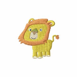 Cute Cartoon Lion embroidery Shirt Embroidered Polo Shirt