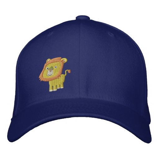 Cute Cartoon Lion front right Embroidered Baseball Hat