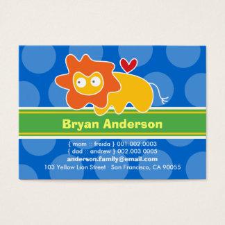 Cute Cartoon Lion Kid Photo Profile Calling Card