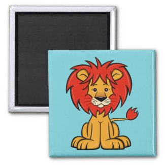 Cute Cartoon Lion Magnet
