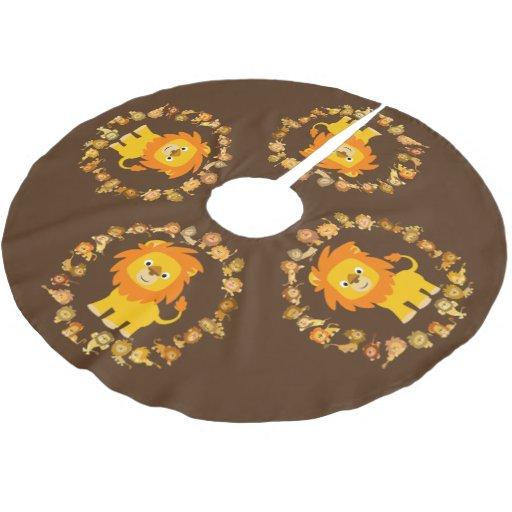 Cute cartoon lion mandala tree skirt zazzle