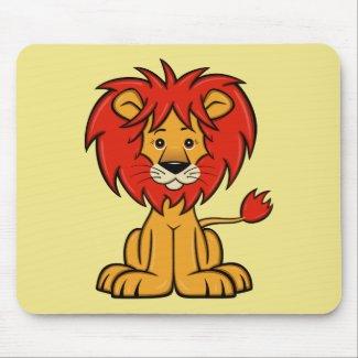 Cute Cartoon Lion Mouse Pad