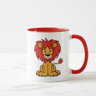Cute Cartoon Lion Mug