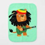 Cute Cartoon Lion of Zion Burp Cloth