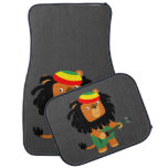 Cute Cartoon Lion Of Zion Car Floor Mat