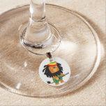 Cute Cartoon Lion of Zion Wine Charm Wine Charms