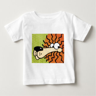 cute cartoon lion on green background baby T-Shirt