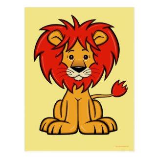 Cute Cartoon Lion Postcard