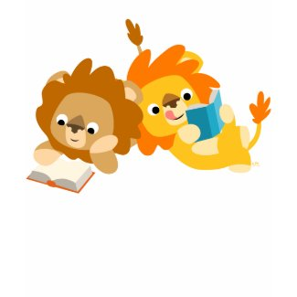 Cute Cartoon Lion Readers children T-shirt shirt