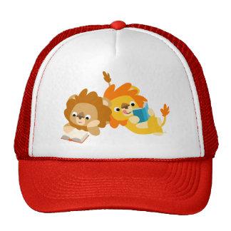 Cute Cartoon Lion Readers Hat