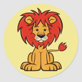 Cute Cartoon Lion Sticker