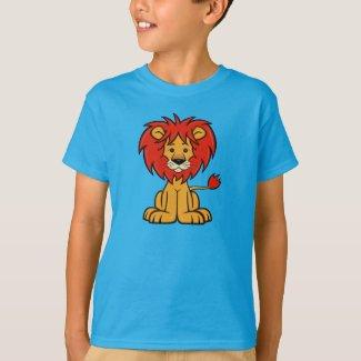 Cute Cartoon Lion Kid's T-Shirt