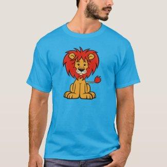Cute Cartoon Lion Men's T-Shirt